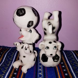 Vintage Dalmatian Figurines set of 2